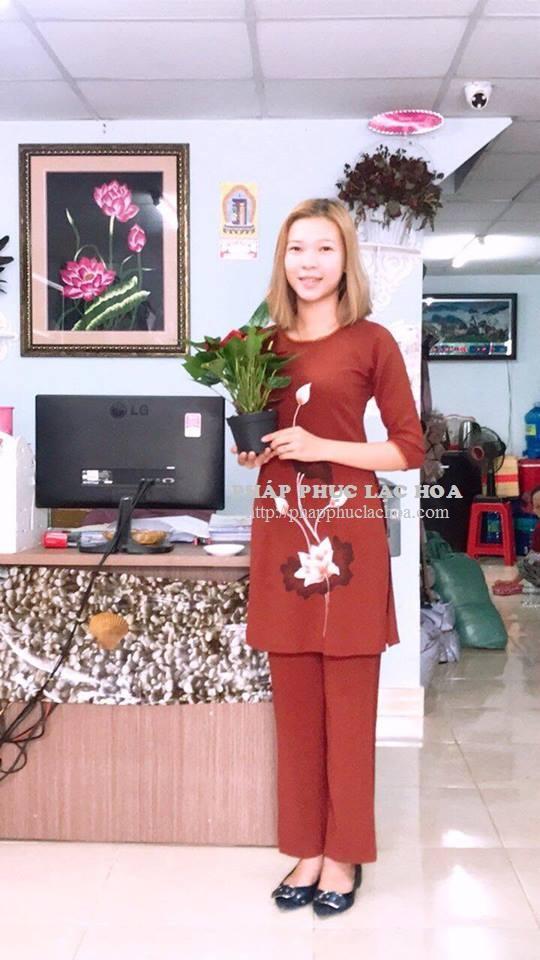 ☘ Bộ áo dài 1 tà vải đũi Hàn Quốc