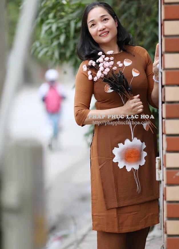 ☘ Bộ áo dài 2 tà vải đũi Hàn Quốc. (size XS,  S, M, L, XL)