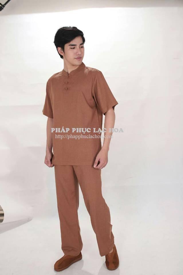 ☘ Bộ nam cổ trụ vải Hàn Quốc. Có màu (Lam, nâu)